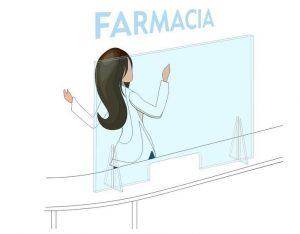 mampara farmacia