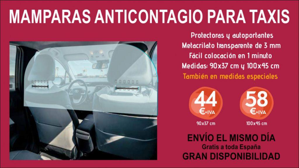 mamparas de proteccion para taxis
