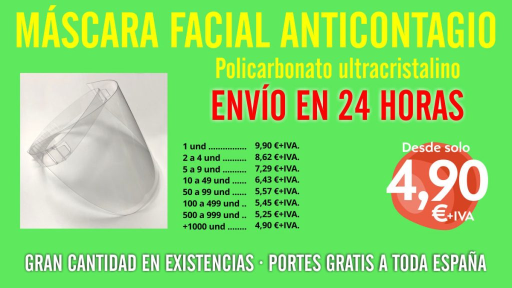 mascara anticontagio dentistas