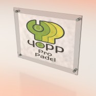 Placa de Empresa de metacrilato sandwich (doble)