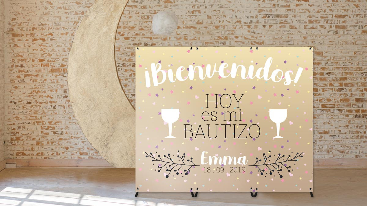 Photocall Bautizos y Baby Shower