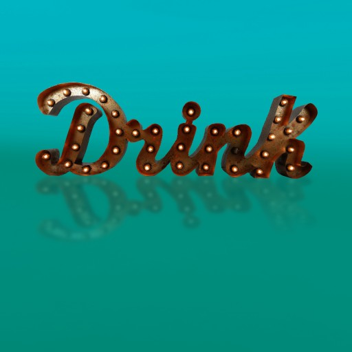 """Drink\"" con bombillas para decoración"