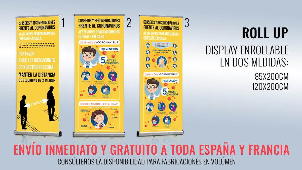 Roll-up Coronavirus | Display Consejos y Recomendaciones