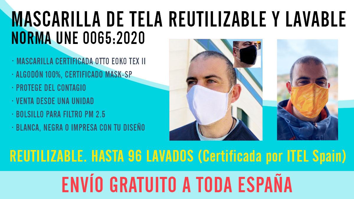 mascarillas antivirus reutilizables